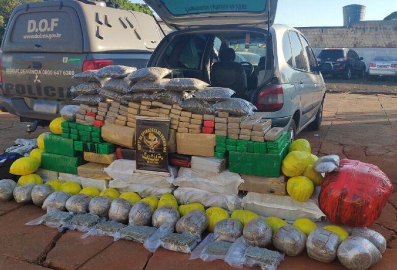 Condutor é preso transportando 600kg de maconha que seriam entregues em Dourados