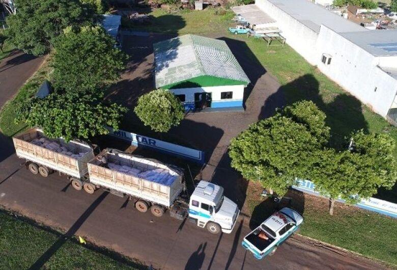 PMA apreende carreta com 12,8 toneladas de agrotóxicos avaliados em mais de R$ 5 milhões