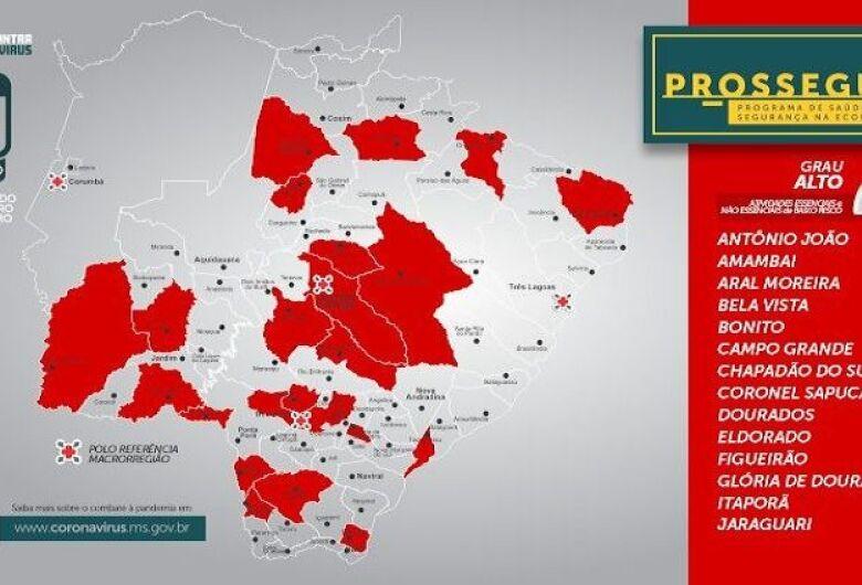 Prosseguir: Governo do MS registra aumento de municípios na faixa vermelha