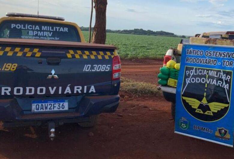 Traficante abandona camionete roubada em MG com quase 1 tonelada de maconha e munições