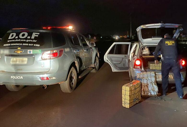 Veículo com mais de 300 kg de maconha é apreendido pelo DOF
