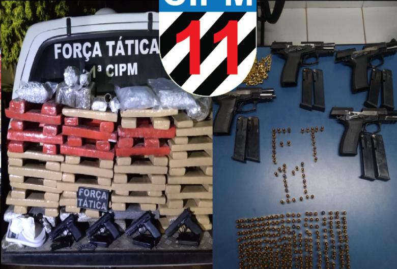 Foragido da Interpol é preso durante ação que apreendeu drogas e armamento