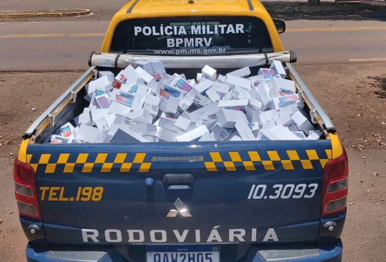 PMR apreende mais de 400 celulares contrabandeados na fronteira