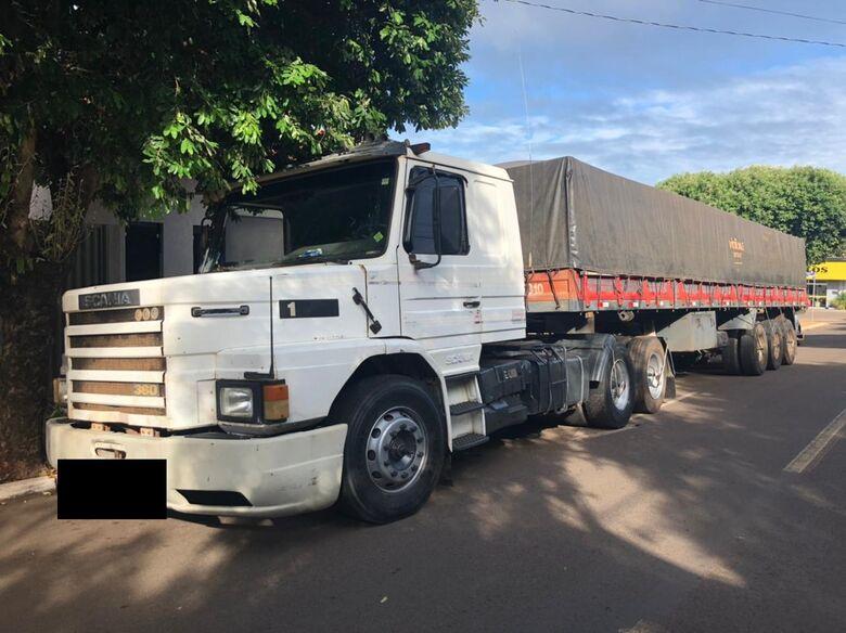 Em ação conjunta, Polícia Civil recupera carreta tomada em estelionato no estado de São Paulo - Crédito: Divulgação