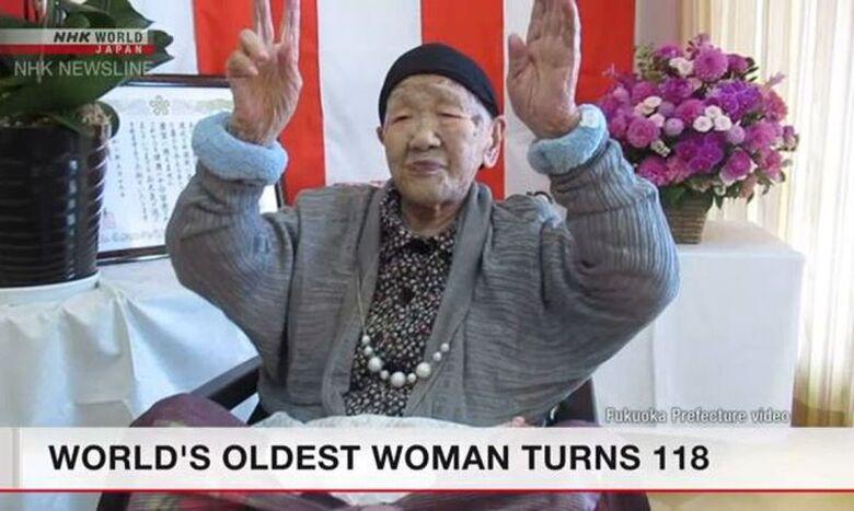 Japonesa mais idosa do mundo faz aniversário de 118 anos -