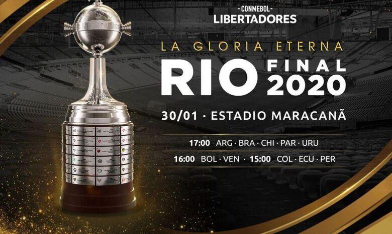 Libertadores: Conmebol confirma final dia 30, no Maracanã, às 17h -