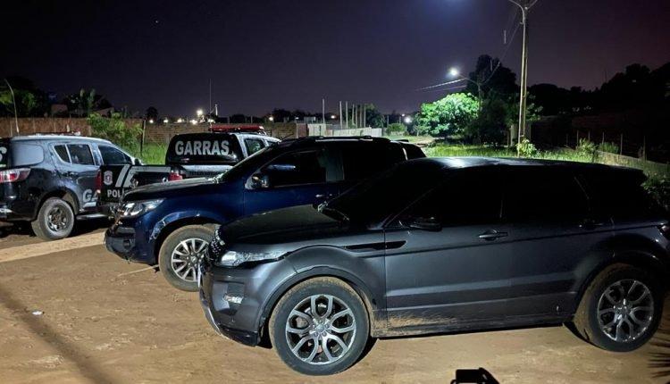 Ação da Polícia Civil localiza residência utilizada por associação criminosa responsável por assassinatos na região de fronteira - Crédito: Divulgação
