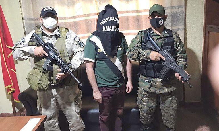 Chefão preso na fronteira de MS é o 3º narcotraficante mais procurado do Paraguai -