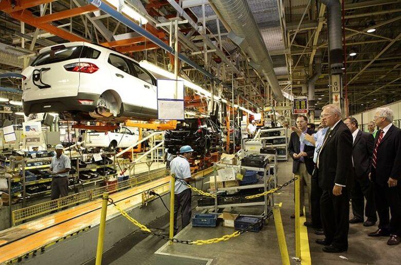 Fábrica da Ford em Camaçari (BA): uma das três unidades da empresa no país, que serão fechadas - Crédito: Ford/Camaçari