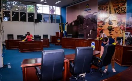 Câmara adota diversas medidas de biossegurança para início do ano legislativo; primeira sessão ordinária está marcada para a próxima segunda-feira, dia 1º - Crédito: Valdenir Rodrigues/CMD