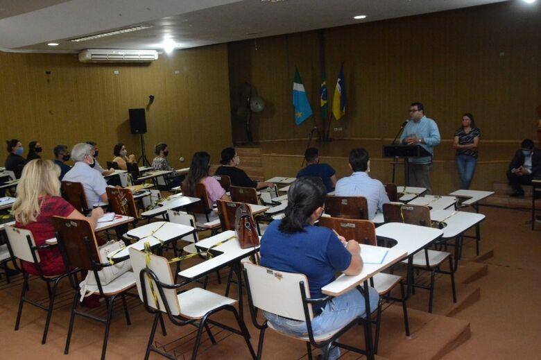 Semed reúne diretores e diretores adjuntos da rede para primeira reunião administrativa do ano letivo de 2021 - Crédito: Leandro Silva/Assecom