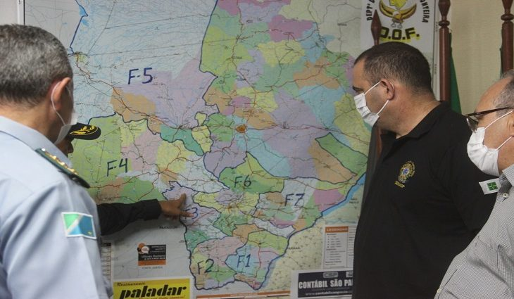 Senasp vai à fronteira conhecer trabalho das forças de segurança do Estado -