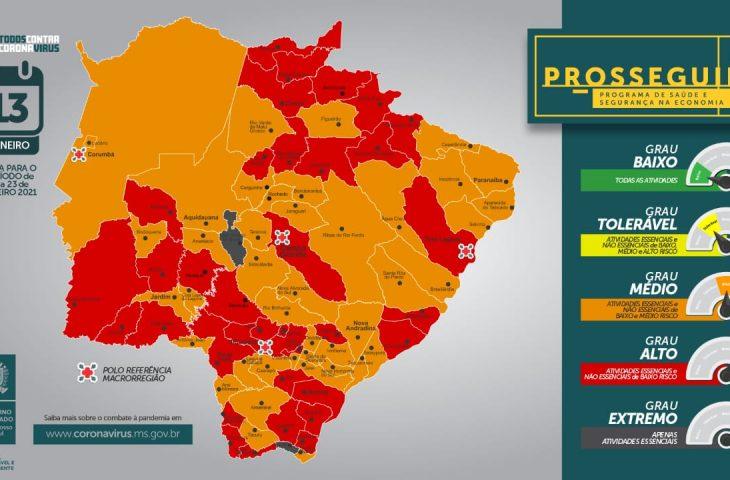 Primeiro Prosseguir do ano aponta 2 municípios em grau extremo e 34 em alto risco -