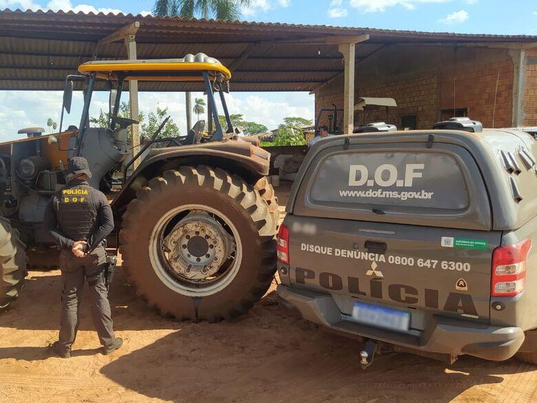 Trator furtado é recuperado pelo DOF -