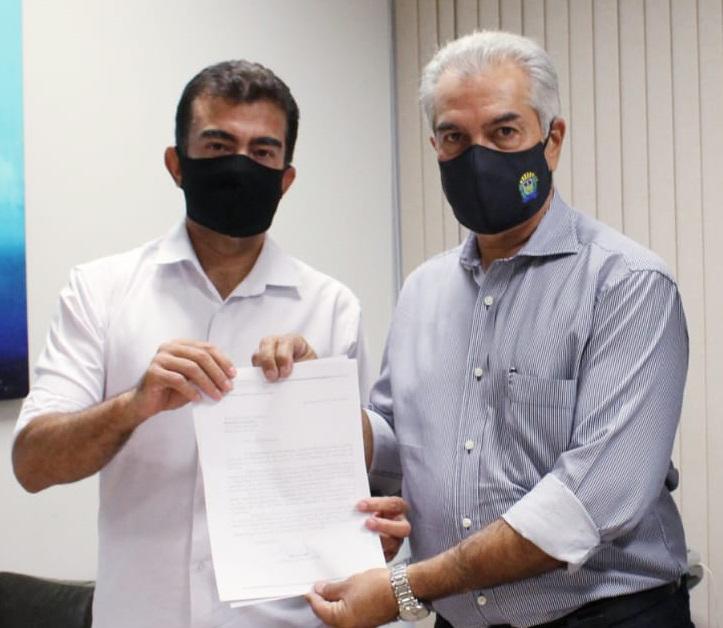 Marçal e o governador Reinaldo - Crédito: Divulgação