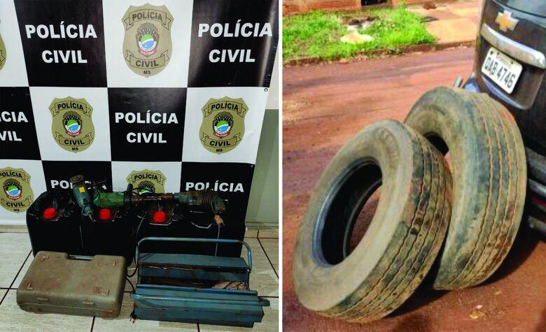 Polícia Civil prende três indivíduos por receptação em Rio Brilhante -