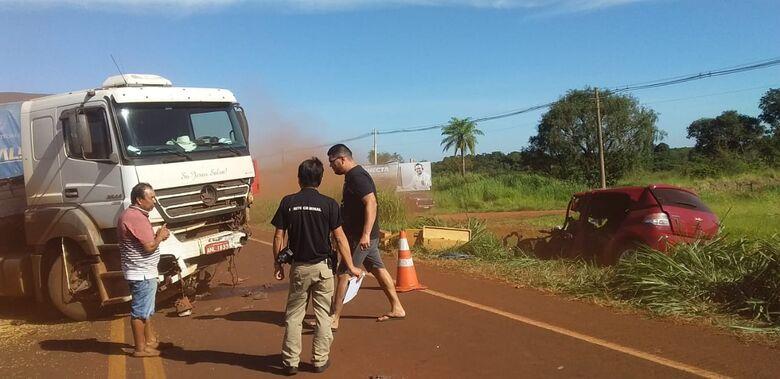 Colisão na BR-267, em Maracaju resultou em morte -