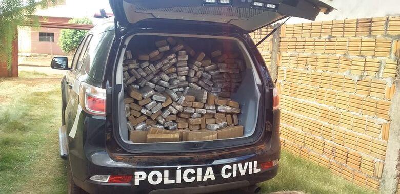 Droga apreendida em residência no Guaicurus pesou 800 kg -