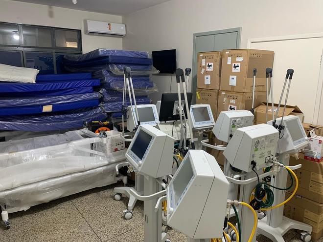 Dez novos leitos de UTI no HV estarão instalados até a semana que vem - Crédito: Foto:Assecom