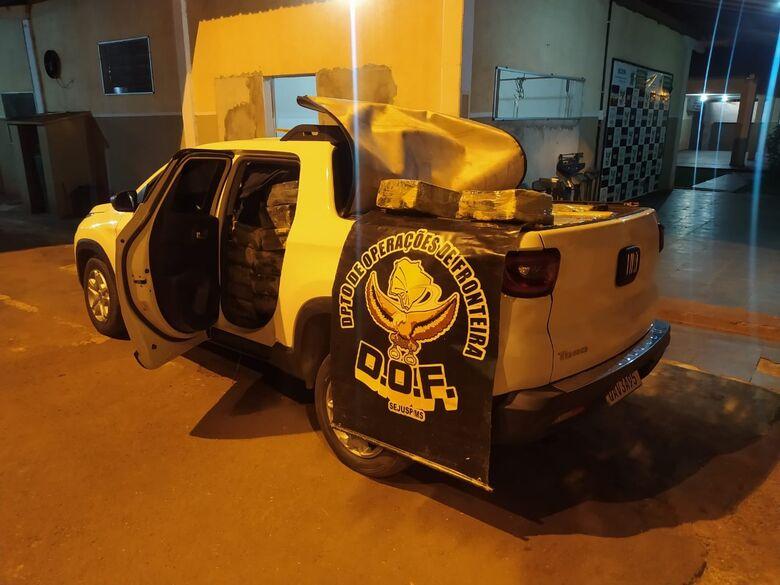 Veículo com mais de uma tonelada de maconha é apreendido pelo DOF - Crédito: Divulgação