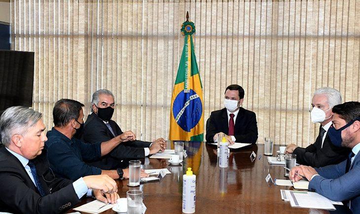 Reinaldo Azambuja busca mais investimentos para segurança pública - Crédito: Divulgação