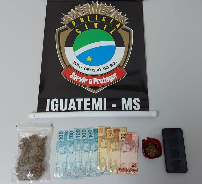 Polícia Civil prende, pela terceira vez, suspeito pela prática de tráfico de drogas - Crédito: Divulgação