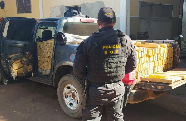 Camionete que seguia para Campo Grande com mais de uma tonelada de maconha foi recuperada pelo DOF durante a Operação Hórus -