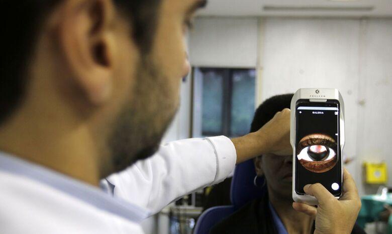 Pesquisa revela que forma grave de covid-19 pode afetar os olhos - Crédito: Tânia Rêgo/Agência Brasil