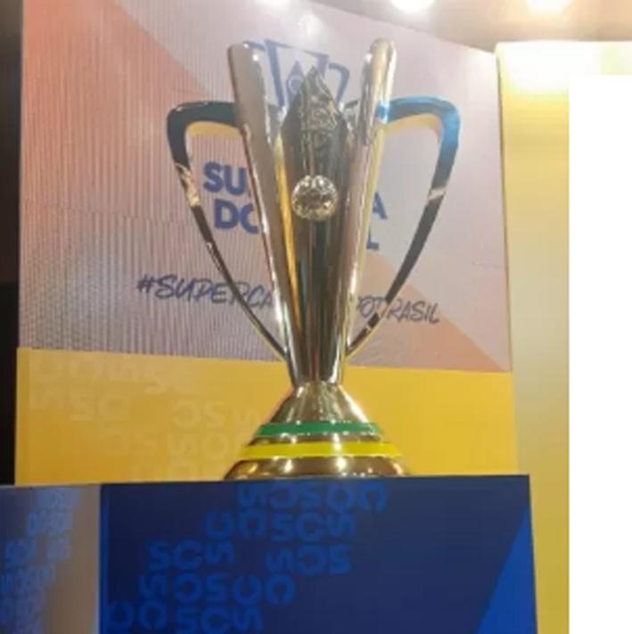 Taça que será entregue ao campeão da Supercopa do Brasil - Crédito: Divulgação