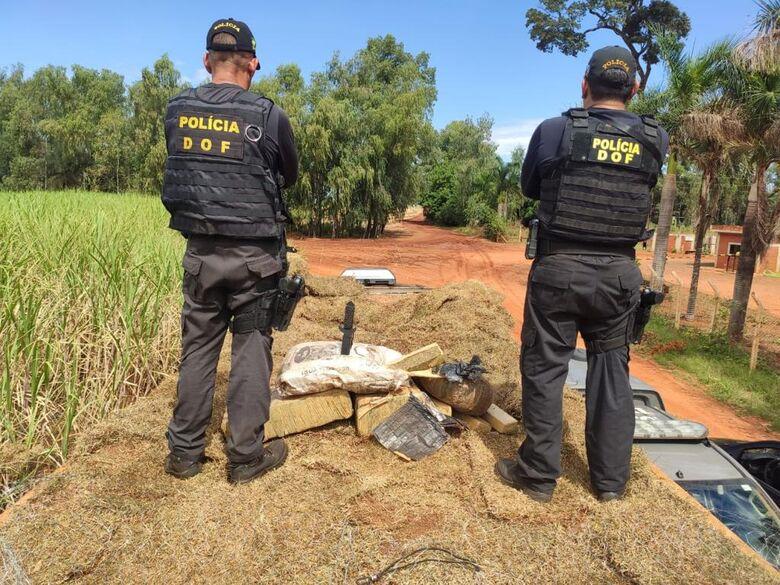 Flagrante aconteceu por volta das 11h, na MS-290 - Crédito: Divulgação/DOF