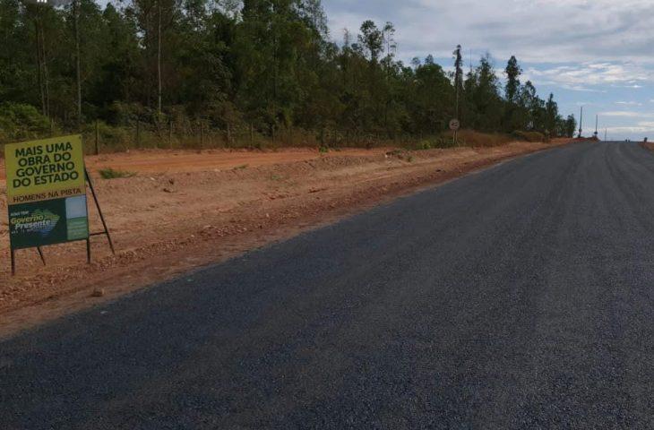 Obra de acesso ao Distrito de Taunay avança e chega a 40% - Crédito: Divulgação