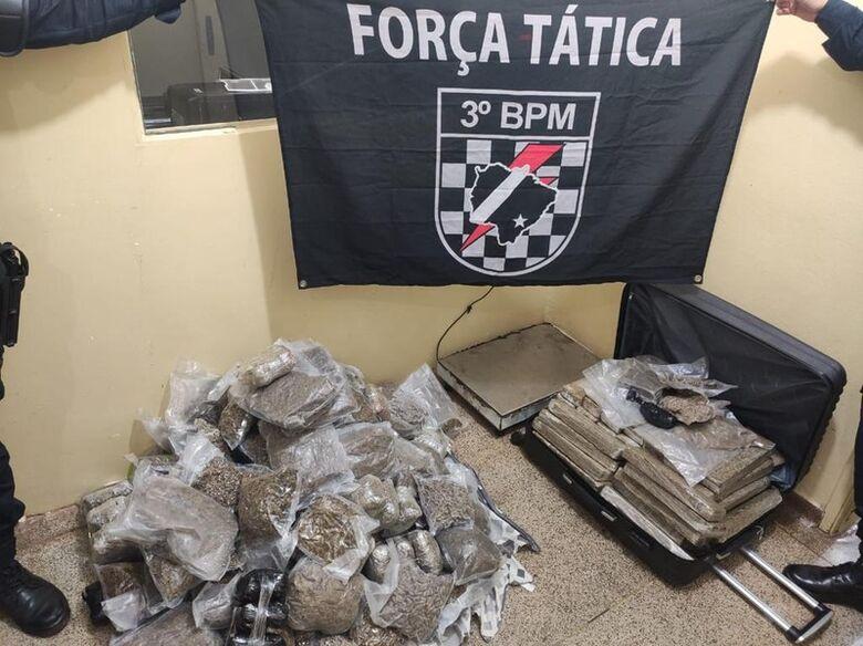 Em 4 meses Policia Militar desarticula tráfico doméstico e apreende 1,6 toneladas de drogas - Crédito: DOF