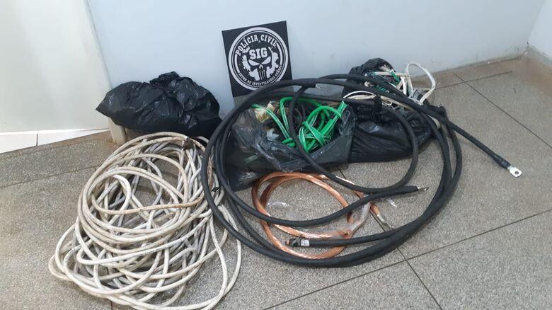 Vigilante é preso por furtar fios de cobre de empresa onde trabalhava - Crédito: Polícia Civil