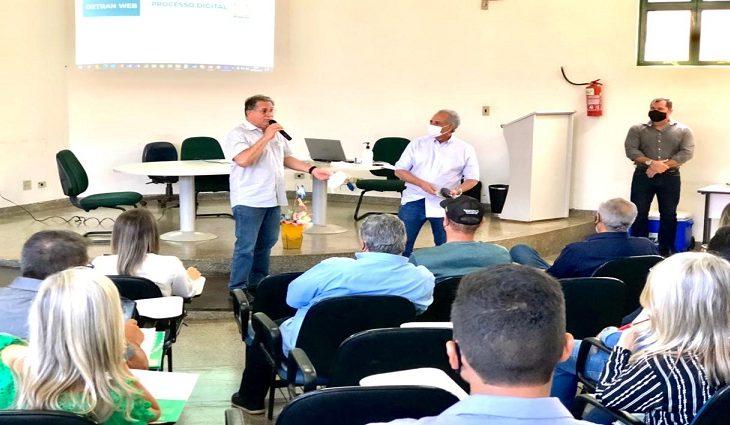 Presidente do Detran-MS realiza visita técnica em Dourados e fala sobre implantar Central de Exames - Crédito: Divulgação
