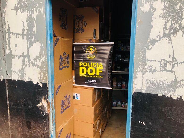 DOF apreende mais de 17 mil pacotes de cigarros contrabandeados - Crédito: DOF