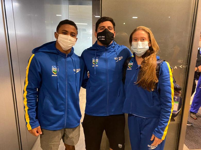 Luana Lira, Kawan Pereira e Isaac Souza garantiram vagas nos Jogos Olímpicos - Crédito: Divulgação/Confederação Brasileira de Desportos Aquáticos