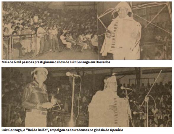 Luiz Gonzaga fez show em Dourados há 40 anos - Crédito: Divulgação