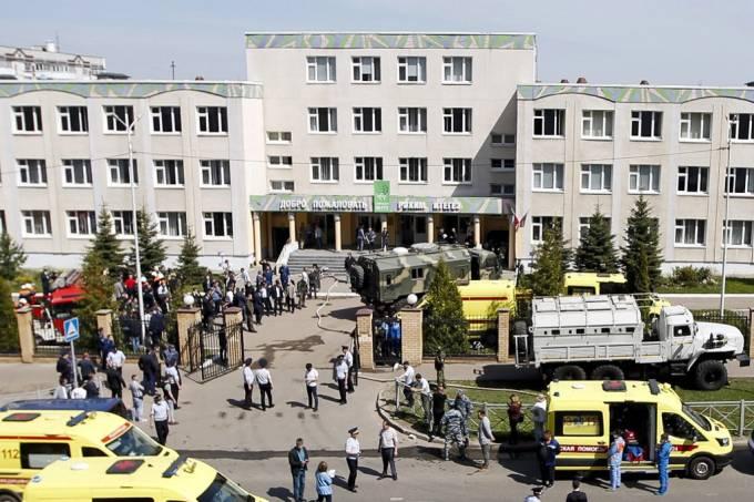 Mais de 30 pessoas ficaram feridas na cidade de Kazan - Crédito: Roman Kruchinin/AFP