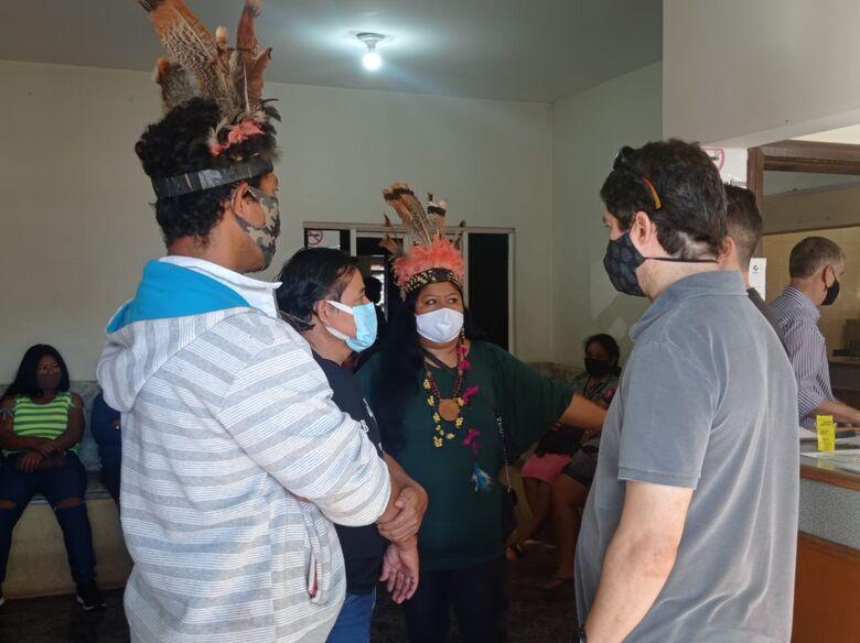 Indígenas protestam contra caos na saúde e pedem demissão de coordenadora - Crédito: Charles Aparecido