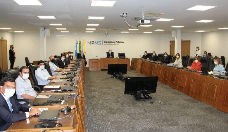 MPMS realiza reunião conciliatória com Poderes e Instituições de MS para construir soluções no combate à pandemia da covid-19 - Crédito: WALERIA LEITE/MPMS