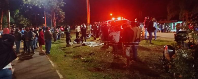 Motoentregador morre ao ser atropelado por veículo em Rio Brilhante - Crédito: Rio Brilhante em Tempo Real