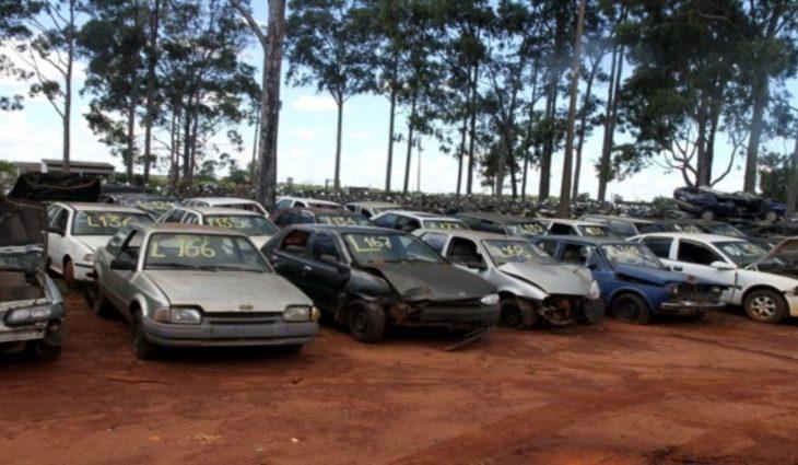 Detran-MS realiza leilão com veículos para sucata aproveitável - Crédito: Detran/Arquivo