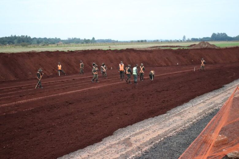 Obras de revitalização do aeroporto municipal já começaram em Dourados - Crédito: Assecom