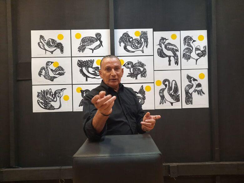 Pássaros de Jonir Figueiredo serão apresentados em vídeo no canal Youtube neste sábado - Foto: Divulgação -