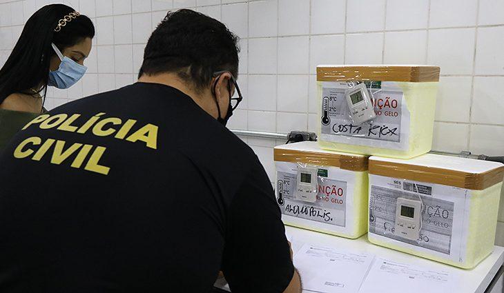SES prepara distribuição das 70.160 doses de vacina contra a covid-19 em MS - Crédito: Edemir Rodrigues