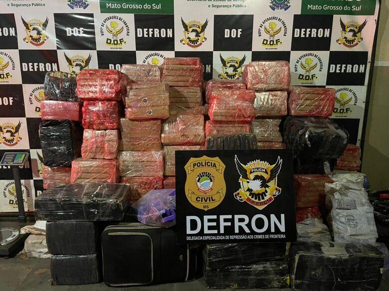 Defron apreende quase 2 toneladas de maconha em Ponta Porã -