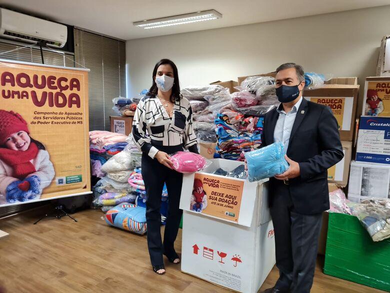Sejusp supera meta e entrega quase 6 mil peças de roupas para a Campanha do Agasalho - Crédito: Divulgação