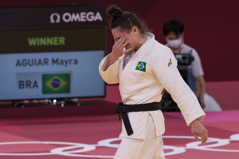 Mayra Aguiar conquista bronze no judô na Olimpíada de Tóquio - Crédito: Júlio César Guimarães/COB