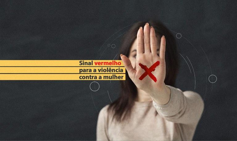 Sancionada lei do Sinal Vermelho contra violência doméstica - Crédito: Divulgação/Campanha CNJ