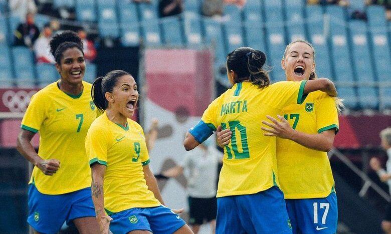 Seleção feminina goleia China na estreia do Brasil na Olímpiada - Crédito: Sam Robles/CBF